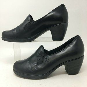 Dansko Beth Pumps Sandals Womens 40 Black Leather